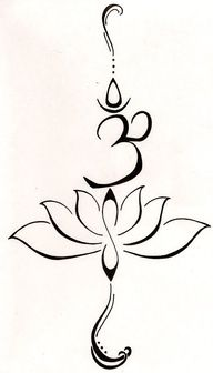 This Might Just Be My Next Tattoo! Om Lotus tattoo. Love!!!