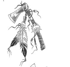 native american tomahawk tattoos -