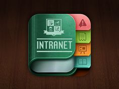 Dribbble - School Intranet IOS icon by Jay Kwong