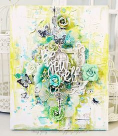 Hello there! Stacey with you today to share a new canvas piece. Shimmerz products used: Vibez...