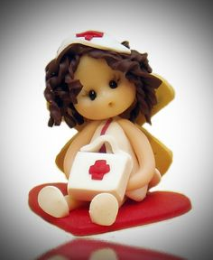 *POLYMER CLAY ~ nurse baby fairy.