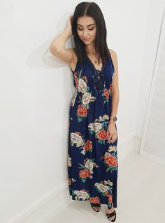 Sukienka AKINA kwiaty granat. Ottanta - sklep online Floral, Outfits, Clothes, Collection, Dresses, Women, Style, Fashion, Vestidos