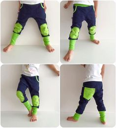 Toddler Jogger Pants for Girls and Boys with big pockets and extra long cuffs…
