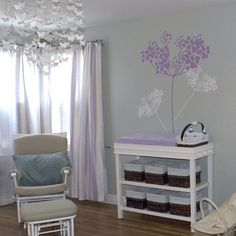 purple and grey nursery.