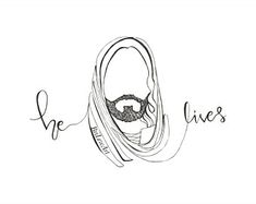 This continuous line drawing of Christ serves as a reminder that our Savior does indeed live. Lds Art, Bible Art, Christian Artwork, Christian Quotes, Easter Drawings, Pictures Of Jesus Christ, Continuous Line Drawing, Life Of Christ, Jesus Art