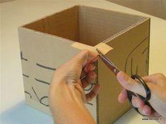 Tuto DIY Fiche pour fabriquer boite en carton - kraftage angle 4 Carton Diy, Jewel Box, Diy Box, Covered Boxes, Doll Furniture, Diy Organization, Box Packaging, Diy Paper, Arts And Crafts