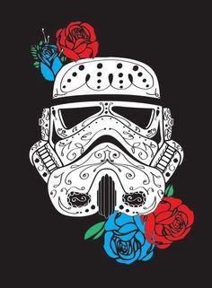 sugar skull-esque storm trooper