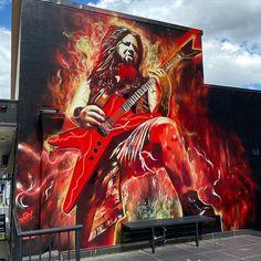 Sam King, Dazzle Camouflage, Dimebag Darrell, Hot Band, Power Metal, Shirt Print Design, Modern Love, Thrash Metal, Street Art Graffiti