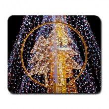 Christmas Tree of Lights Large Mousepad