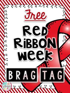 Red Ribbon week is just around the corner! With Halloween on my mind, sometimes I feel like Red Ribbon Week sneaks up on me! Red ribbon...