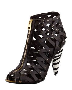 OH. MY. GOD.  !!  Hand-Stitched+Lattice+Leather+Bootie+by+Tom+Ford+at+Bergdorf+Goodman. $1550