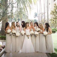 Light champagne bridesmaid dresses