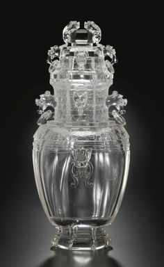 A LARGE CARVED ROCK CRYSTAL VASE AND COVER QING DYNASTY, 19TH CENTURY. | Sotheby's