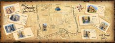 ART Map_Jerusalem, Israel Old City Map by Giselle Hasel