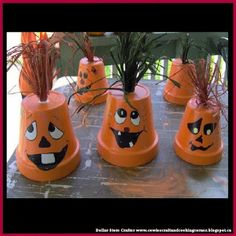 Dollar Store Crafter: Halloween Themed Clay Pots