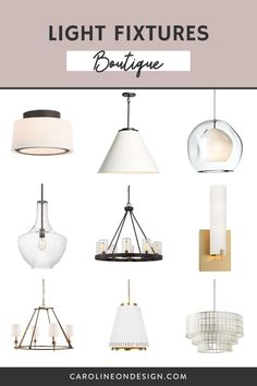 Need help finding the right light fixtures for your new home or remodel? I've created a selection of my favorite light fixtures for you to choose from all in one spot! Pendant Lighting, Chandelier, Decorating Your Home, Light Fixtures, Sconces, New Homes, Dining Table, Room, Inspiration