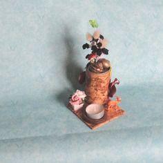 Bougeoir chauffe plat orchidée  et escargots  En vente sur : http://www.alittlemarket.com/boutique/recup_creation-343513.html