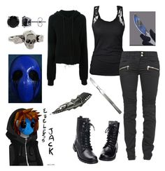 Eyeless Jack by rain1608 on Polyvore featuring polyvore fashion style Unravel Balmain Metal Couture BERRICLE clothing