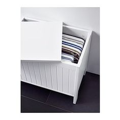 SILVERÅN Storage bench - IKEA - could be used as seating for a kitchen table if it's high enough