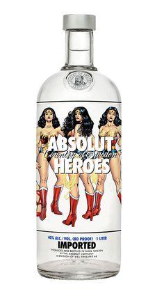 "Absolut Vodka ""Heroes"" Bottles by Cyril De la torre Branger, via Behance"