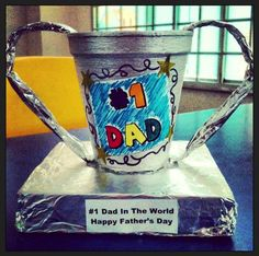 DIY Kid Craft:  Father Day's Trophy  (Simple to Make)