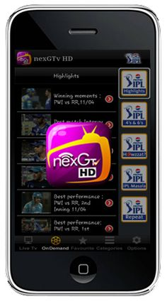 Download nexGTv to Watch Live Mobile Tv on your Android, iOS, Blackberry, OVI Mobile Device.You can enjoy unlimited fun and better user experience by downloading nexGTV apps. http://www.nexgtv.com/nexGtvdwnload.aspx