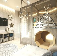 Cool Room Ideas for the Coolest Kid in the House Coole Raumideen für das coolste Kind im Haus. Small Space Interior Design, Kids Room Design, Boys Room Decor, Kids Bedroom, Bedroom Ideas, Bedroom Decor, Cool Kids Rooms, Minimal Bedroom, House Ideas