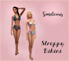 High-Waisted Strappy Bikini at Simelicious • Sims 4 Updates
