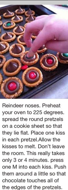 Could use Rolos, too. Reindeer noses