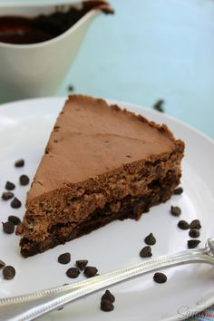 Fudge Brownie No-Bake Cheesecake - Use GF brownie mix as base and check other ingredients!