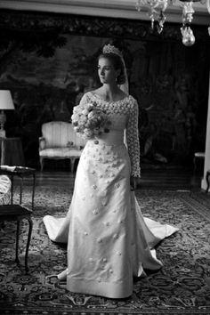 Princess Nathalie zu Sayn-Wittgenstein-Berleburg poses during her wedding on 18 June 2011