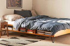 10 Best Storage Beds With Drawers And Cubbies - Bedroom Storage Ideas Best Storage Beds, Bed Frame With Storage, Bed Storage, Bedroom Storage, Storage Ideas, Extra Storage, Men's Bedroom Design, Home Decor Bedroom, Modern Bedroom