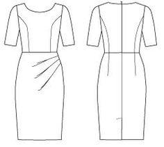1193 Vogue DKNY dress #DKNY #Dress