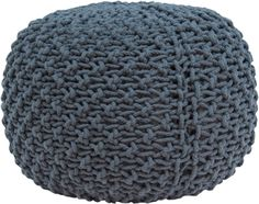 The Marina Pouf in charcoal.