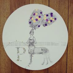 """""""P de púrpura, el color de las moras en la cabeza"""" pieza única #Himallineishon #art #illustration"""