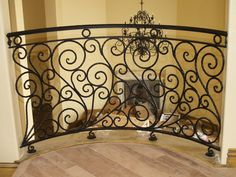 Iron Masters creates custom railings to fit any home style. #wrought iron, #stair railing