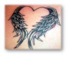 Interesting Winged Heart Tattoo #TattooIdeasInMemoryOf