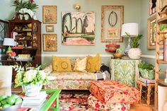 A Home Bursting with Color, Pattern & Love in Greenville, SC