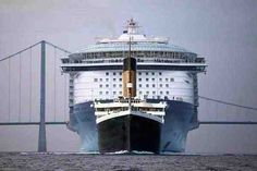 Size comparison: Titanic vs. Allure of the Seas Cruise Ship - Imgur