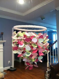 A few weeks ago, I set out to search the internet for a mobile for Abigail's room. I scoured websites, pinterest, and etsy and just could'...