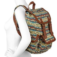 Olsenboye® Aztec-Pattern Canvas Backpack - jcpenney