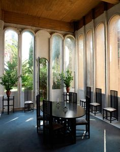 Ricardo Bofill - The ethereal renovation of an abandoned concrete factory to the architect's own home and studio, Sant Just Desvern 1973.
