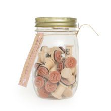 Vintage Romance Alphabet Stamp Jar by Recollections