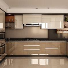 moderne Küche von Fabmodula Kitchen Cupboard Designs, Kitchen Room Design, Home Room Design, Modern Kitchen Design, Interior Design Kitchen, Small Modern Kitchens, Kitchen Modular, Modern Kitchen Cabinets, Wardrobe Design Bedroom