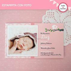 Pajarito rosa: tarjeta con foto - Todo Bonito