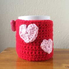 Heart Mug Cozy (Valentine's Day) — Crafthubs