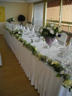 Beautifully decorated Top table