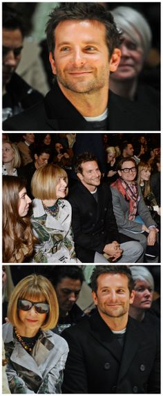 Man Crush Monday: Bradley Cooper Front Row With Anna Wintour at Burberry for London Fashion Week #MCM #LFW #FW14