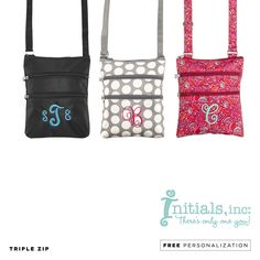 Triple Zip | $25 Free Personalization