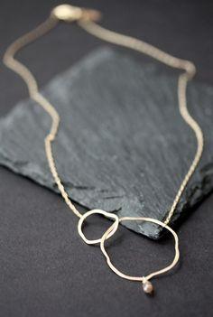 Organic Chocolate Diamond Necklace